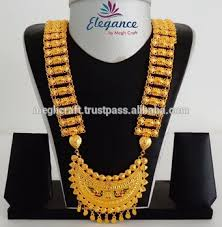 gold plated necklace wholesale images South indian chandelier shape bridal gold plated jewelry jpg