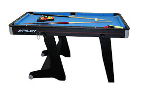 4ft pool table folding riley 5 ft folding domestic pool table black amazon co uk sports