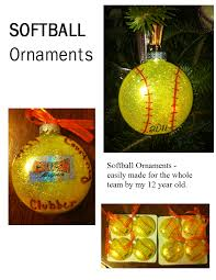 diy softball ornaments cute and easy made by my daughter for her