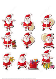 printable santa claus stickers free printable papercraft templates