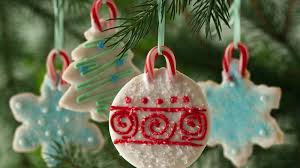Decorated Christmas Tree Sugar Cookies by Holiday Cookie Ornaments Recipe Bettycrocker Com