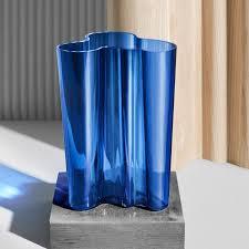 Iittala Aalto Vase Iittala Alvar Aalto Vase 25cm Ultramarine Glass Vase