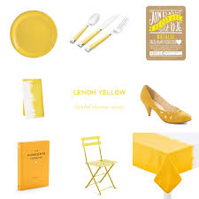 color obsession lemon yellow bridal shower ideas u2014 event 29