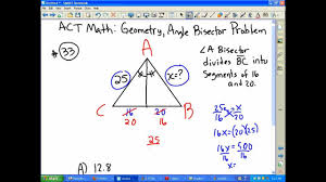 act math geometry angle bisector problem youtube