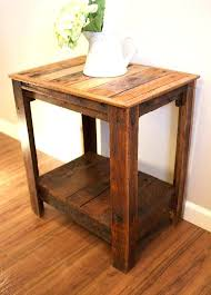 Rustic Pine Nightstand Side Table Unfinished Side Table Long Rustic Pine Hallway