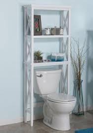 Bathroom Shelf Organizer by K U0026b Over The Toilet Shelf Bm1126 W White Metal Toilet