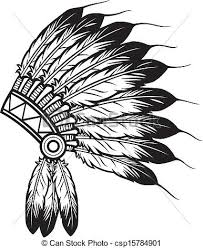 thanksgiving indian headdress clipart clipartxtras