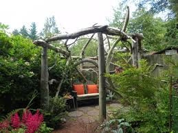 rustic garden ideas this rustic pergola represents the wood