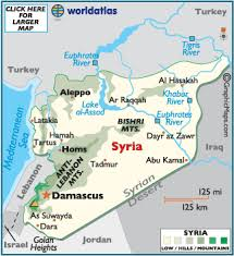 syria on map syria map geography of syria map of syria worldatlas