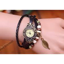 weave wrap bracelet images Beautylife weave wrap around leather bracelet lady woman wrist wa jpg