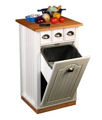 Kitchen Storage Carts Cabinets Kitchen Kitchen Cart With Trash Bin Rolling Butcher Block