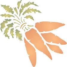 carrot stencil size 4 5