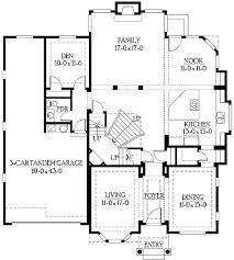 tandem garage house plan house plans