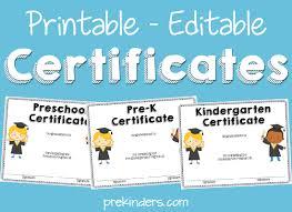 preschool certificates end of year activities certificates prekinders