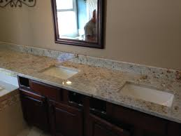 colonial cream double vanity over tub granite america