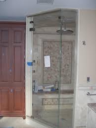 awesome modern bathroom with corner shower room design ideas