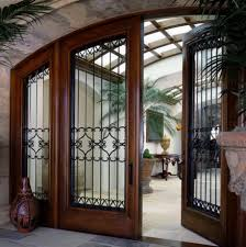 wrought iron front door make southwestern style with wrought