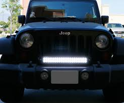 jeep liberty light bar ijdmtoy jeep wrangler front grill led light bar