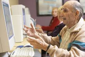 Man On Computer Meme - old man computer confused blank template imgflip
