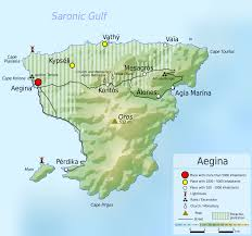 Greece On A Map Map Of Aegina Greece Worldofmaps Net Online Maps And Travel