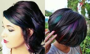 admiring brunettes oil slick hair colors 2017 hairdrome com