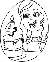 birthday coloring sheets 61 best birthday images on pinterest colouring birthdays and 4