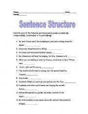 being funny is tough english sentence structure homework help