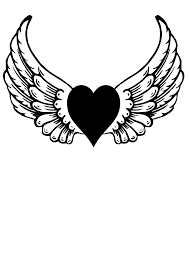 angel with heart clipart 38