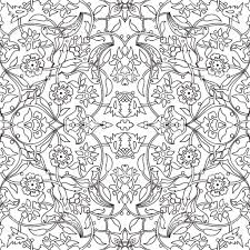 Tribal Print Wallpaper by Stylized Flowers Oriental Doodle Wallpaper Seamless Abstract