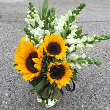 sunflower bouquets hey
