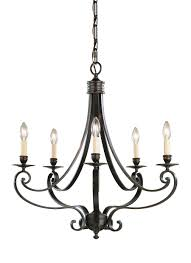 f1929 5lbr 5 light single tier chandelier liberty bronze