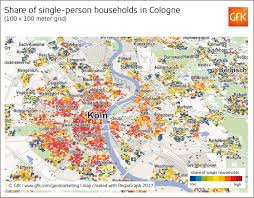 Cologne Germany Map by Map Of The Month Share Of Single Person Households In Cologne