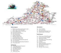 Fredericksburg Va Map Tour Map And Sponsors Motorcycle Grand Tour Of Virginia