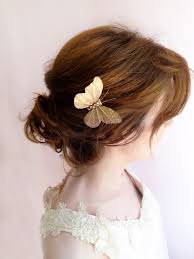 butterfly hair mariposa two tone gold mauve butterfly n4