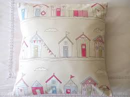 Pink Bedroom Cushions - beach huts cushion cover by glitter pink notonthehighstreet com