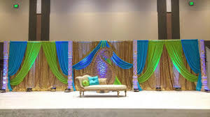 wedding backdrop setup the wedding stage setup with fabric backdrop by