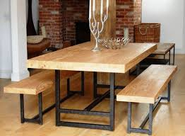 kitchen reclaimed wood round dining table dining table metal
