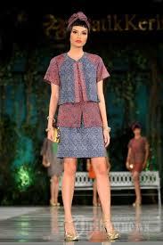 fashion terbaru model baju batik keris wanita modern terbaru busana nusantara