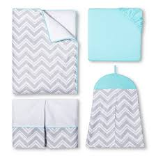 Chevron Bedding Queen Sweet Jojo Designs Gray Chevron With Turquoise 11pc Crib Bedding