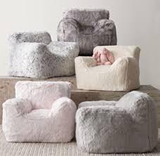 Faux Fur Bean Bag Chairs Luxe Faux Fur Bean Bag Chair Grey Fox
