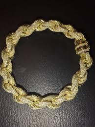 solid sterling silver mens bracelet images Mens 12mm rope bracelet 14k gold real solid 925 sterling silver jpg