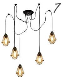 Swag Pendant Lighting Cage 7 Swag Pendant Light Chandelier Spider Chandeliers And