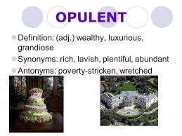 Synonyms Of Opulent Level E Unit 1 Vocabulary Ppt Online Download