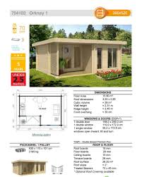 House Specification Sheet by The Orkney 1 70mm Log Cabin U2013 3 9m X 5 2m U2013 Under 2 5m High
