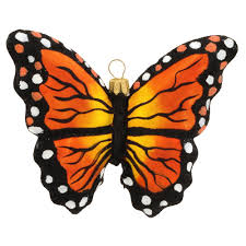 monarch butterfly hanging glass ornament a through i