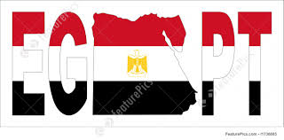 Egyption Flag Illustration Of Egypt Text With Map And Flag