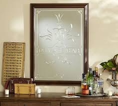 Bar Mirror With Shelves by Private Bar Etched Mirror Pottery Barn