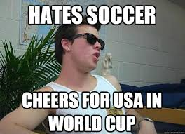 Usa Soccer Memes - hates soccer cheers for usa in world cup frat bro frank quickmeme