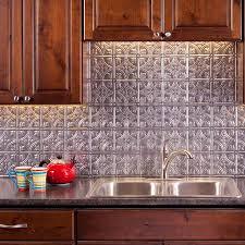 kitchen fasade backsplash hammered in bermuda bronze silver