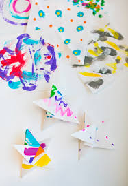 hello wonderful painted origami paper ornaments
